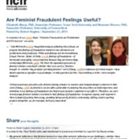 http://images.ncfr.org/webconvert/archive/Are_Feminist_Fraudulent_Feelings_Useful_NCFR.pdf