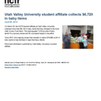 http://images.ncfr.org/webconvert/archive/Utah_Valley_University_student_affiliate_collects_6720_in_baby_items_NCFR.pdf