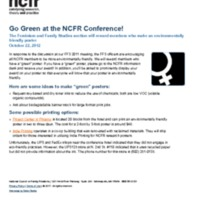 http://images.ncfr.org/webconvert/archive/Go_Green_at_the_NCFR_Conference_NCFR.pdf