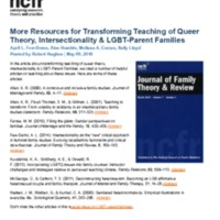 http://images.ncfr.org/webconvert/archive/More_Resources_for_Transforming_Teaching_of_Queer_Theory_Intersectionality_LGBT_Parent_Families_NCFR.pdf