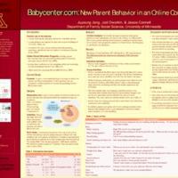 Babycenter.com: New Parent Behavior in an Online Community