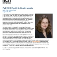Fall 2013 Family & Health update